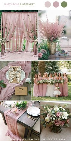 Trending: 7 Gorgeous Dusty Rose Wedding Colors for brides to.- Trending: 7 Gorgeous Dusty Rose Wedding Colors for brides to Try in 2019 dusty rose and greenery wedding color combos - Dusty Rose Wedding, Floral Wedding, Wedding Flowers, Trendy Wedding, Elegant Wedding, Wedding Scene, Dark Red Wedding, Blush And Grey Wedding, Wisteria Wedding