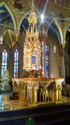 Basilica of Sacred Heart, Notre Dame, South Bend, Indiana Catholic Art, Roman Catholic, Catholic Churches, Cathedral Basilica, Cathedral Church, Notre Dame Football, Notre Dame Apparel, South Bend Indiana, Go Irish