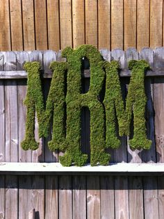 ⚓Large Moss Monogram - Rustic Wedding - Monogram - Home Decor via Etsy