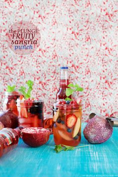 The Plunge: A Fruity Sangria Punch | MarlaMeridith.com