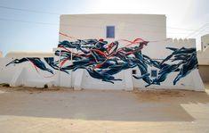 Pantonio (Portugal) #streetart #erriadh #djerba #tunisia #acrylic
