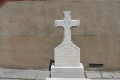 Tombstone in 1800s Catholic cemetery in historic section  of Philly