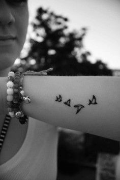Bird tattoos in forearm for girls - mini tattoos | DIY Watercolor Tattoo