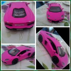 My boy pink car
