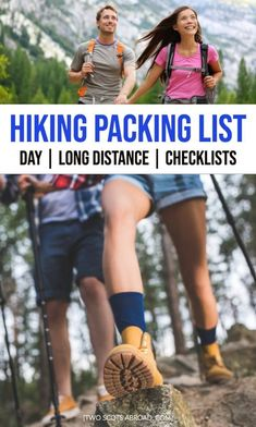 What to wear hiking, hiking packing list. hiking packing list for your first trek, hiking packing list women, hiking packing list men, hiking packing list summer, hiking packing list national parks, hiking packing tips, best clothes to pack for hiking, what to buy for hiking for women and men, packing tips for hiking, best things to wear while hiking, how to dress for hiking, hiking packing checklist, hiking with your dog packing list #hiking #hikingpackinglist #Travel Packing Checklist, Packing List For Travel, Packing Lists, Men Hiking, Hiking Tips, Best Travel Pants, International Travel Tips, Worldwide Travel, Travel Light