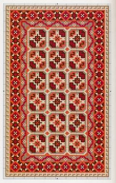 Miniature  Baluchi carpet pattern
