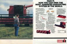 1985 Case IH International Harvester 1680 Axial Flow Combine Tractor 2 Page Ad   eBay