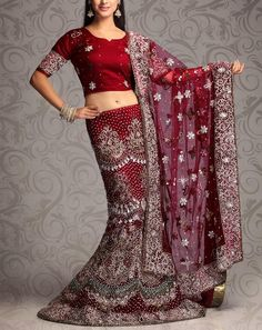 Cherry Red Lehenga Choli For the 'Marriage' ceremony - the best day of your life! Indian Bridal Lehenga, Red Lehenga, Party Wear Lehenga, Indian Bridal Wear, Pakistani Bridal Dresses, Wedding Lehnga, Wedding Dress, Choli Designs, Indian Fashion Designers