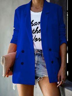 Blazer Price, Online Shopping, Casual Blazer, Casual Wear, Double Breasted Blazer, Blazer Fashion, Casual Sweaters, Blazers For Women, Women Blazer