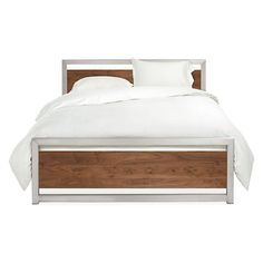 Piper Wood Panel Bed in Stainless Steel - Beds - Bedroom - Room & Board