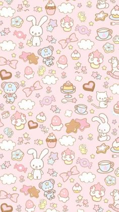 This was my first wallpaper for my iPad mini. Look how kawaii it is~. Cute Backgrounds, Wallpaper Backgrounds, Kawaii Background, Background Cat, Easter Background, Cute Wallpapers For Ipad, Whatsapp Wallpaper, Illustration, Kawaii Wallpaper