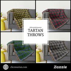 OldScottishMountain Tartan Throw Blankets