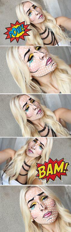 Dagens makeup – Cartoon Pop Art Girl | Helen Torsgården