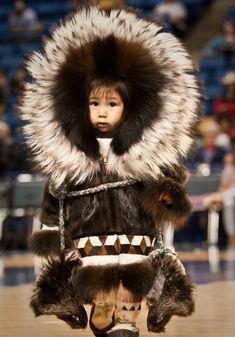 Taken at the World Eskimo Indian Olympics, Carlson Arena, Fairbanks, Alaska COPYRIGHT:© 2008 Clark James Mishler. I got to attend the Eskimo Indian Olympics. We Are The World, People Around The World, Beautiful World, Beautiful People, Sweet Pictures, First Nations, Photos Du, Beautiful Children, Precious Children