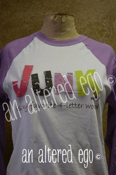 Junk is my favorite 4 letter word Raglan-junk