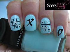 X Retro Nail Art Transfer by SassyNailzIreland on Etsy, $3.00