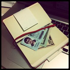 """Andrés Moreira (@moreiranres on Twitter)'s wallet is his Moleskine, """"so I change it pretty often..."""" Meanwhile, check out a """"wallet of the future"""" on Co.Design: http://www.fastcodesign.com/1669980/the-wallet-of-the-future-is-the-wallet-of-the-past"""
