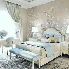 Bedroom Design: Turn Your Master Bedroom into a Relaxing Haven! Dream Bedroom, Home Bedroom, Modern Bedroom, Peaceful Bedroom, Trendy Bedroom, Master Bedrooms, Luxury Bedroom Design, Interior Design, Suites