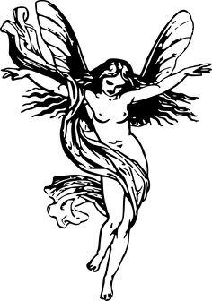 Free Image on Pixabay - Angel, Fairies Aloft, Fairy, Female Mini Tattoos, Cute Tattoos, Body Art Tattoos, New Tattoos, Small Tattoos, Tatoos, Tattoo Sketches, Tattoo Drawings, Fairy Wing Tattoos