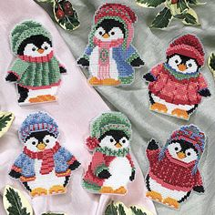 Penguin Ornament Set - Cross Stitch, Needlepoint, Stitchery, and Embroidery Kits, Projects, and Needlecraft Tools | Stitchery