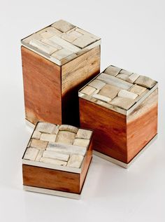 TOBAS BOXES · WOOD & ALPACA METAL &  NATURAL BONE · AIREDELSUR