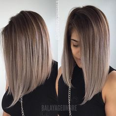 New hair color long straight highlights balayage Ideas Medium Straight Haircut, Short Straight Hair, Long Hair Cuts, Medium Hair Cuts, Medium Hair Styles, Short Hair Styles, Prom Hairstyles For Short Hair, Hairstyles Haircuts, Straight Hairstyles