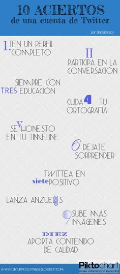 10 aciertos de una cuenta de Twitter #infografia #infographic #socialmedia
