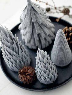 Christmas tree DIY with felt. Scandinavian christmas from stoffogstil.no / @stoffstil