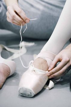 I remember the old days sewing our pointe shoes!