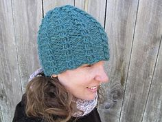 Cable knit beanie, knit on a round loom