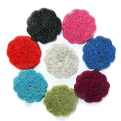 Thick Wool Felt flower - 35mm (small)