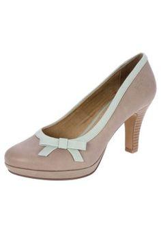 Zapatos de plataforma - taupe/light blue