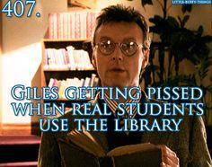 Librarian giles, Buffy The Vampire Slayer