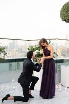 Glam rooftop proposal idea   | engagement | | wedding | | engagement photography| #engagement #wedding https://www.starlettadesigns.com