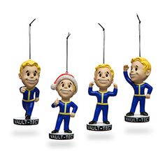 Have you ever wanted to increase the skills and stats of inanimate objects around you? Now you can with these Fallout 4 Vault Boy Holiday Ornaments! Each of these ornaments is shaped like a Smiling Vault Boy, straight from Vault-Tec and ready to help.