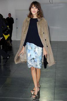 Alexa Chung - At the Christopher Kane autumn-winter 2012...