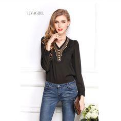 b4ddc6af2 See more. >> Click to Buy << New Brand Designer Women Retro.  Chiffon Shirt ...