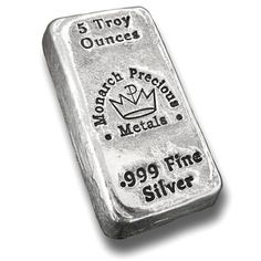 5 oz Monarch Hand Poured Silver Bars from JM Bullion™ Bullion Coins, Silver Bullion, Silver Market, Silver Investing, Gold Money, Gold Stock, World Coins, Sell Gold, Rare Coins