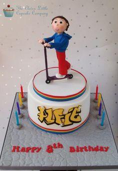 Scooter Boy Birthday Cake