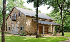 Renovated Dutch barn - now restored as a lake side barn-style rustic game room and guest quarters in central Texas.