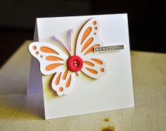 Beautiful Butterfly Card by Maile Belles for Papertrey Ink (May 2014)