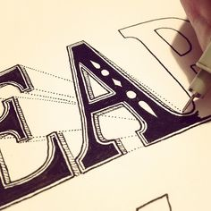 Pretty happy with the style prototype for this part. Time to settle on a supporting execution #lettering #sketch #typography - @seanwes | Webstagram