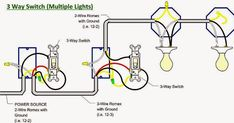 Three Way Light Switch Light Wiring Diagram For Two . 3 way light switch multiple lights wiring diagram three way switch wiring diagram for two lights way 3 Way Switch Wiring, Ceiling Fan Wiring, Thermal Power Station, Outlet Wiring, Battery Charger Circuit, Electrical Symbols, Fire Alarm System, Three Way Switch, Off Grid Solar
