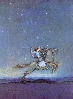 A Young Prince Went Riding out in the Moonlight. John Bauer, Swedish artist 1882-1918. I LOVE this man's work.