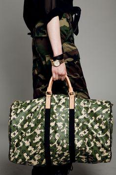 Louis Vuitton Camo Duffel