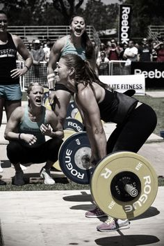 her lifting…and THEM screaming at her to get it!!!  THIS IS WHY I CHOSE TO CROSSFIT.