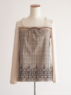 axes femme Winter Crown Charm Ribbon Blouse Dress Classic Lolita SizeM Japan #axesfemme #Blouse #Casual