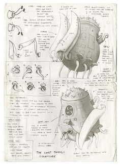 drawings for the lost thing book shaun - Google Search