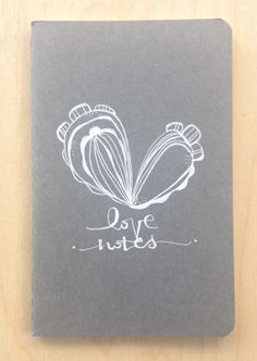 a NEW! hand illustrated journal. the perfect place to keep you - love notes.  a little hand illustrated journal. on etsy!
