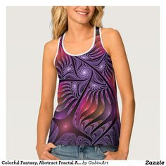 Colorful Fantasy, Abstract Fractal Art Tank Top